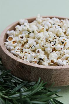 Popcorn with rosemary butter and Parmesan