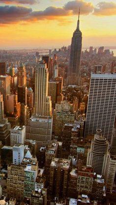 Sunset, New York City, USA