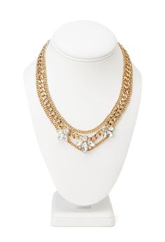 Layered Chain Petal Necklace #Accessories