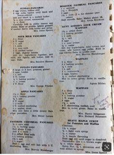 Pancakes and Waffles Egg Waffle Recipe, Waffle Batter Recipe, Waffle Recipes, Br. Retro Recipes, Old Recipes, Waffle Recipes, Vintage Recipes, Cookbook Recipes, Brunch Recipes, Baking Recipes, Sweet Recipes, Gastronomia
