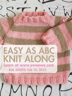 Ravelry: Easy as ABC Top-down Raglan Baby Sweater pattern by Heather Walpole Baby Sweater Patterns, Baby Sweater Knitting Pattern, Knit Baby Sweaters, Baby Knitting Patterns, Knitting Stitches, Free Baby Patterns, Knitting Needles, Knitting Help, Knitting For Kids