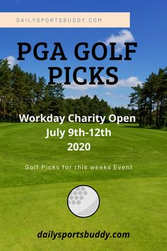 PGA Tour Golf Picks and PGA Tour Predictions for the Workday Charity Open at the Muirfield Golf Club in Dublin, Ohio. Golf Preview and Golf Predictions #pgatour #golf Golf Picks, Pga Tour Golf, Golf Pga, Fantasy Golf, Dublin Ohio, Golf Betting, Daily Fantasy