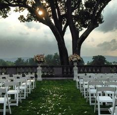 picture perfect sunset wedding at sleepy hollow country club
