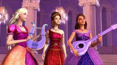 Barbie and the Diamond Castle Photo: Liana, Alexa and Melody Childhood Movies, Kid Movies, Disney Movies, Barbie Girl, Barbie Dress, Santa Hat Pikachu, Susanoo Naruto, Barbies Pics, Barbie Images