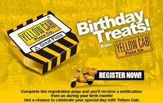 Is this your birthday month? Yellow Cab Pizza Co. has a birthday gift for you. Birthday Month, It's Your Birthday, Birthday Treats, Birthday Gifts, Yellow Car, Marketing Program, Pizza Party, Special Day, About Me Blog