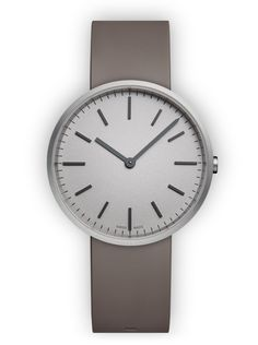 Uniform Wares watch M37 // Brushed steel, Grey nitrile rubber Swiss Made