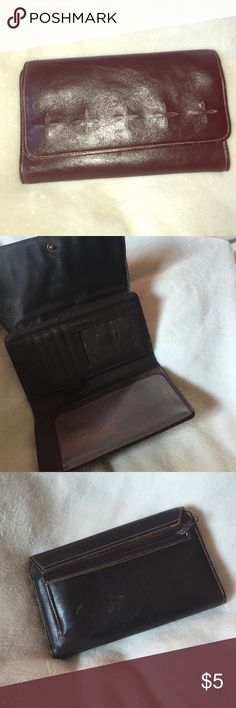 """Brown wallet. Brown wallet with plenty of storage. 6.75"""" x 4"""" Bags Wallets"""