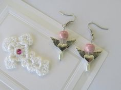 Angel Inspired handmade earrings with by SarahsBaublesToo on Etsy