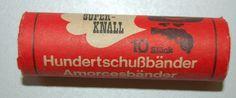 """DDR Museum - Museum: Objektdatenbank - Munition für Spielzeugpistolen """"Amorcesbänder"""" Copyright: DDR Museum, Berlin. Eine kommerzielle Nutzung des Bildes ist nicht erlaubt, but feel free to repin it!"""