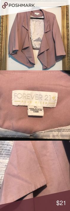 Forever 21 open blazer casual work pink xl 1x Good used conditions. if you have questions please ask before buy pet smoke odor free home 🏡 have a great day and always save on bundles on my closet blessings🙏 Forever 21 Jackets & Coats Blazers