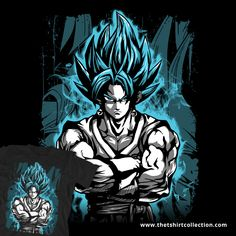 501602eb123 Super Saiyan - SSJ Vegito God Blue - Men Short Sleeve T Shirt - TL00897SS