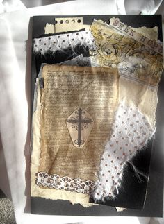 Collage Card Handmade Paper Scripture Jesus' by ThresholdPaperArt, $4.50 Vintagy Easter Card