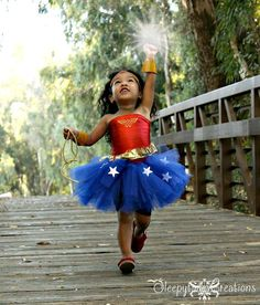 Wonder Woman inspired Tutu dress sizes up to 4t/5t on Etsy, $50.00