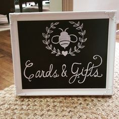 Reception signage  {Calligraphy by Carrie}