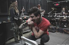 """""""Photo I took of Austin at practice for Mitch Lucker's Memorial show with Suicide Silence."""" Awesome shot!! JELLYVILLE!!"""