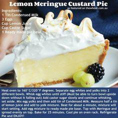 Lemon Meringue Custard Pie