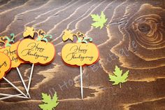Happy Thanksgiving cupcake topper, Fall cu[cake topper, Thanksgiving Decor, Fall decoration Thanksgiving Cupcakes, Thanksgiving Celebration, Thanksgiving Decorations, Happy Thanksgiving, Nautical Banner, Fall Banner, Fall Garland, Engagement Photo Props, Engagement Party Decorations