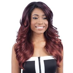 ModelModel Synthetic Lace Front Wig Deep Invisible Diagonal Part Darica