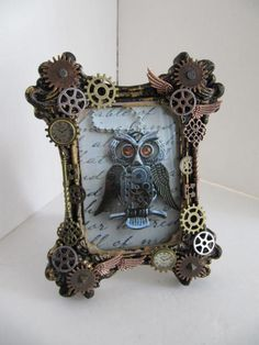 Frame Steampunk Picture Frame Watch Frame by LuckySteamPunk, $31.00