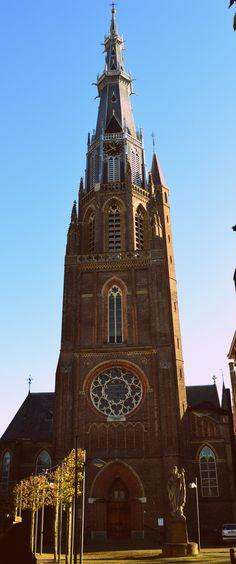 St. Bonifatiuskerk hoe ik hem het mooiste vind. - eigen foto, 13-11-'14