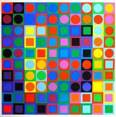 VICTOR VASARELY http://www.widewalls.ch/artist/victor-vasarely/ #VictorVasarely #opart #painting