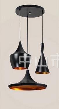 KHSKX Modern Fashionable Dining Room Chandelier Without Light 3 Head Combined Disc Check Out