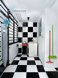 areas-de-servico-12 Laundry Room Design, My House, Stairs, Architecture, Inspiration, Furniture, Home Decor, Decoration, Kitchen