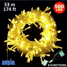 Indoor/Outdoor Fairy Lights - 300 LED Warm White LED String Lights - 8 Meters - Power Operated - Ideal for Christmas Tree, Festive, Wedding/Birthday Party Decorations LED Outdoor Christmas, Christmas Lights, Christmas Decorations, Xmas, Christmas Tree, Christmas Ornaments, Holiday Decor, Outdoor Fairy Lights, Led String Lights