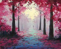 Autumn Scenes by Graham Gercken 1 Watercolor Landscape, Landscape Art, Landscape Paintings, Watercolor Art, Tree Paintings, Autumn Scenes, Forest Painting, Pictures To Paint, Painting Pictures