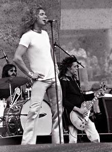 Jimmy Page, Robert Plant, John Bonham   Led Zeppelin 1977