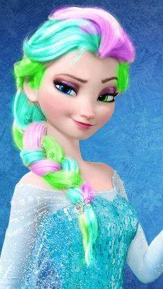 Punk Disney: Elsa with Snowflakes in her hair. Disney Princess Fashion, Disney Princess Quotes, Disney Princess Drawings, Disney Princess Pictures, Princess Cartoon, Disney Drawings, Punk Disney, Disney Art, Frozen Wallpaper