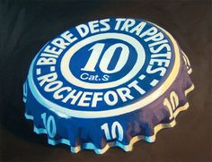 An oil painting of a Rochefort 10 crown.