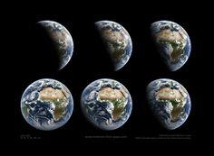 Tagesgang: Dreht sich die Erde aus der Nacht in den Tag, wird es hell - der...