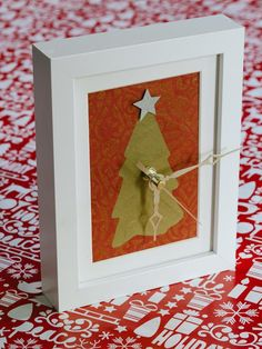 Picture-Frame Clock in Homemade Holiday Gifts Under $10 from HGTV