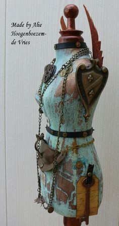 Sister Punk Altered Tailor's dummy (2), made by Alie Hoogenboezem-de Vries