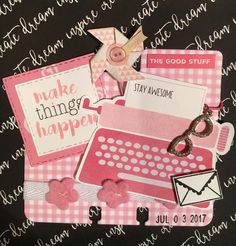 Pink by Connie Davis Paperclip Crafts, Rolodex, Atc Cards, Index Cards, Pocket Cards, Smash Book, Scrapbooking Layouts, Mini Albums, Cardmaking