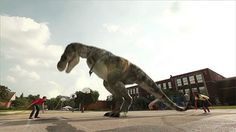 Ein seilspringender Tyrannosaurus, gif'd