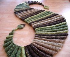 классический мужской шарф спицами - Поиск в Google
