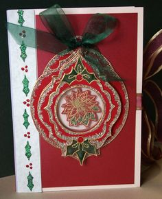 Christmas Card Holder filled with handmade cards is a Fabulous gift for the hard to buy for person! Holly Berry House Originals