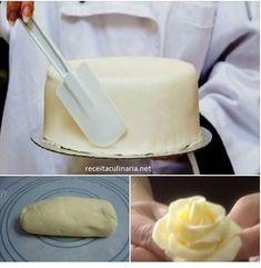 Pasta de Leite em Pó Para Decorar Bolos