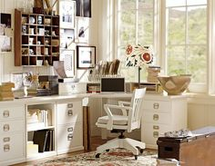 Home Office Design Ideas & Home Office Inspiration | Pottery Barn. Great office, different color.