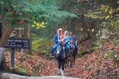 Saddle up and head out for a #Gatlinburg horseback riding adventure!