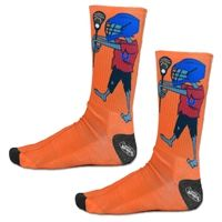 Girls Lacrosse Sublimated Mid Calf Socks Lacrosse Zombie. Fun Halloween Socks for Lax Girls! LuLaLax.com