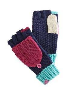 Joules null Girls Plain Knitted Mittens, Multi.                     Autumn adventures, here we come! These super-soft  mittens come with a button-back tab to free little fingers for conker picking and hedgerow plundering. Perfect to pair with the Missy Hat and Scarf.