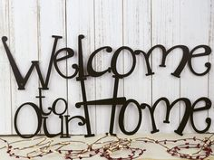 Welcome Wall Decor sit relax enjoy metal wall art | metal sign | wall decor | outdoor