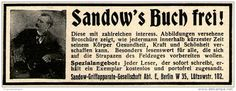 Original-Werbung/ Anzeige 1915 - SANDOW'S BUCH FREI / HAMBURG - ca. 75 x 25 mm