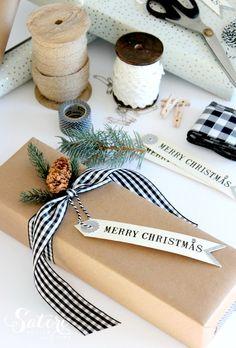 Creative Gift Wrap Ideas and Christmas Printables