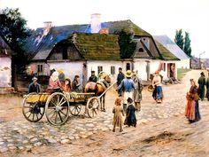 Podkowinski, Wladyslaw (1866-1895) - 1891 Street in Siennica (National Museum, Warsaw, Poland)   by RasMarley