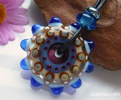 LinaFIRE | Lampwork - Daria lampwork bead wheel donut