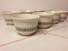 Shenango China restaurant ware small bowls for soup, custard, creme brulee by EvelynsCornerCabinet, $18.00